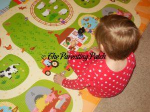 Kindergartener Playing on Baby Care Large Busy Farm Foam Play Mat 2