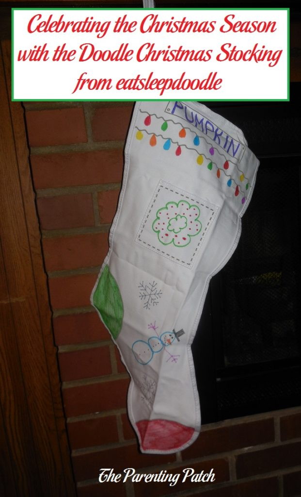 Celebrating the Christmas Season with the Doodle Christmas Stocking from eatsleepdoodle