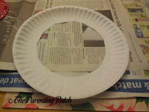 Paper Plate for Paper Plate Thanksgiving Wreath Craft