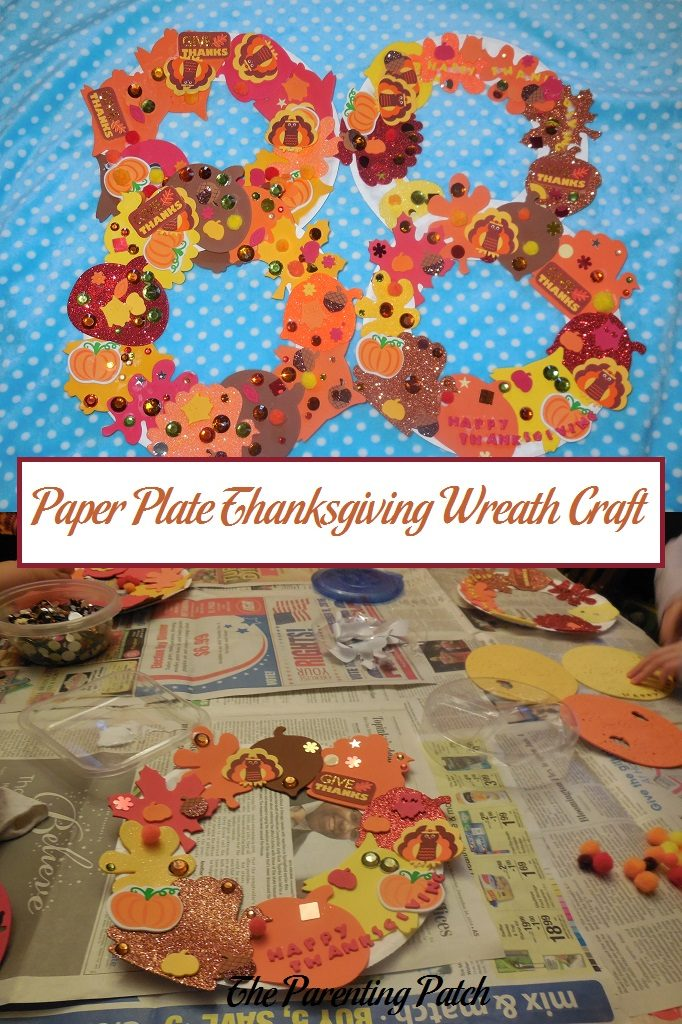 Paper Plate Thanksgiving Wreath Craft