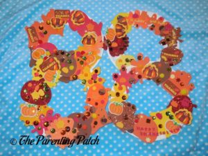 Finished Paper Plate Thanksgiving Wreath Crafts