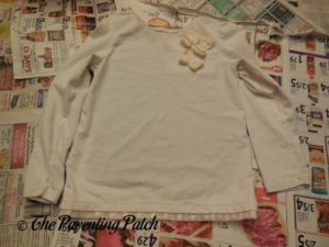 White Shirt for Turkey Handprint-Footprint Thanksgiving Shirt Craft