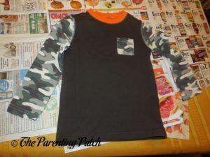 Brown Shirt for Turkey Handprint-Footprint Thanksgiving Shirt Craft
