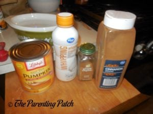 Ingredients for Whipped Pumpkin