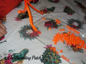Thread Morning Beads for Pony Bead Pumpkin Craft