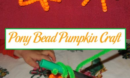 Pony Bead Pumpkin Craft