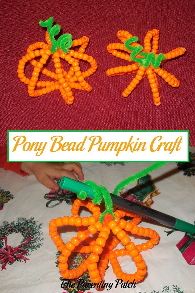 Pony Bead Pumpkin Craft