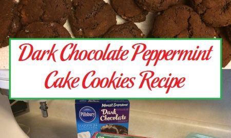 Dark Chocolate Peppermint Cake Cookies Recipe