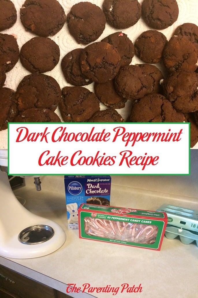 Dark Chocolate Peppermint Cake Cookies Recipe