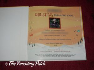 Title Page of 'My Christmas Sing-Along Book' from I See Me!
