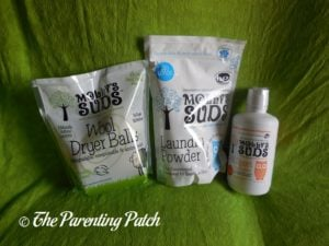 Molly's Suds Laundry Powder, All Sport Laundry Wash, and Wool Dryer Balls