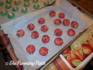 Baked Candy Cane Blossom Cookies