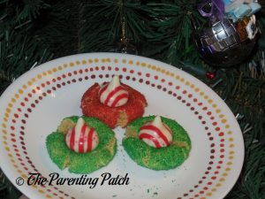Candy Cane Blossom Cookies