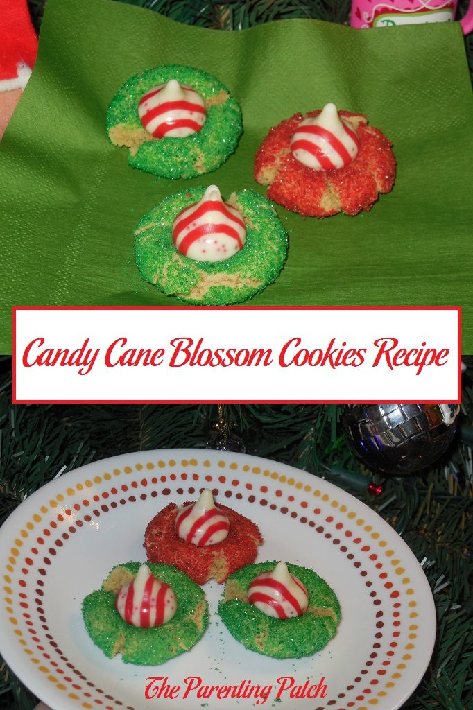 Candy Cane Blossom Cookies Recipe
