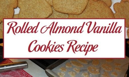 Rolled Almond Vanilla Cookies Recipe