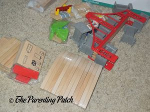 Opening the Wooden Toy Train Set from Cubbie Lee Toy Company
