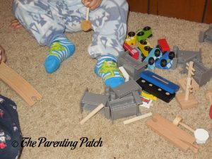 Unpacking the Wooden Toy Train Set from Cubbie Lee Toy Company