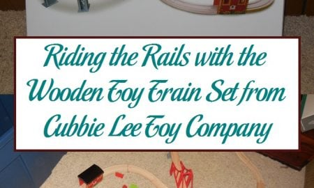 Riding the Rails with the Wooden Toy Train Set from Cubbie Lee Toy Company