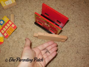 Covered Bridge Pieces of the Wooden Toy Train Set from Cubbie Lee Toy Company