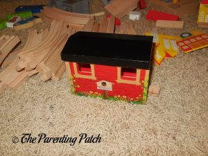 Assembled Covered Bridge of the Wooden Toy Train Set from Cubbie Lee Toy Company