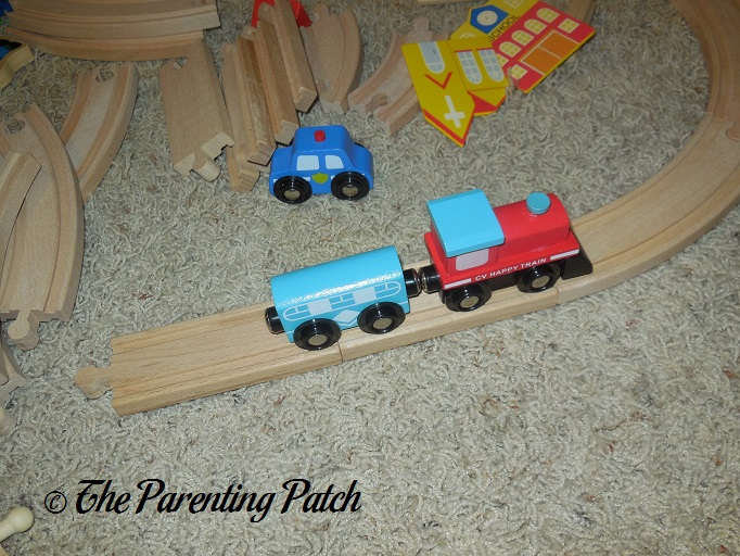Riding The Rails With The Wooden Toy Train Set From Cubbie Lee Toy