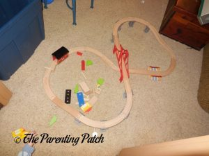 Assembled Wooden Toy Train Set from Cubbie Lee Toy Company