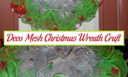 Deco Mesh Christmas Wreath Craft