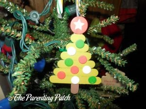 Wood Christmas Tree Ornament