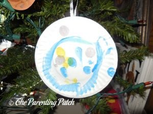 Paper Plate Bauble Ornament