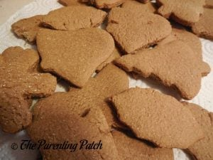 Undecorated Gingerbread Cookies