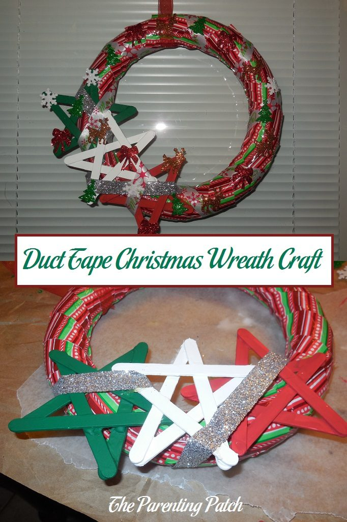 Duct Tape Christmas Wreath Craft