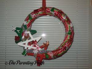 Finished Duct Tape Christmas Wreath Craft