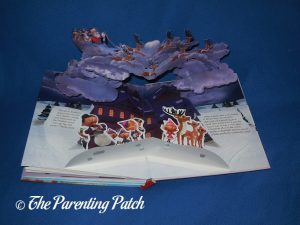 Inside Pages of 'Rudolph the Red-Nosed Reindeer Pop-Up Book'