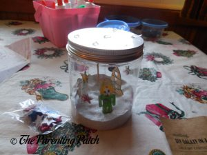 Finishing the Seedling DIY Galaxy in a Jar