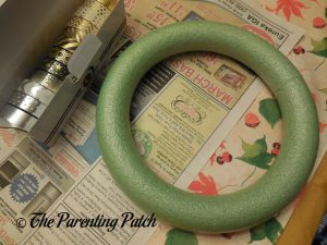 Materials for New Year's Wreath Craft