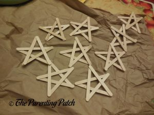Wood Craft Stick Stars