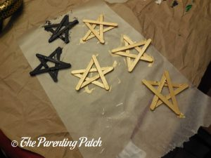 Gold and Black Craft Stick Stars