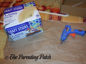 Materials for Star of David Hanukkah Ornament Craft