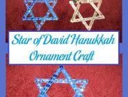 Star of David Hanukkah Ornament Craft
