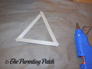 First Triangle for Star of David Hanukkah Ornament Craft