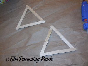 Two Triangles for Star of David Hanukkah Ornament Craft