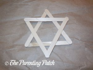 Craft Stick Star for Star of David Hanukkah Ornament Craft
