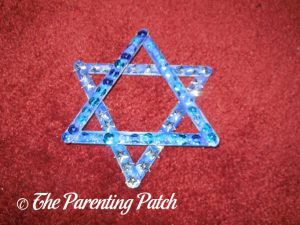 Finished Star of David Hanukkah Ornament Craft