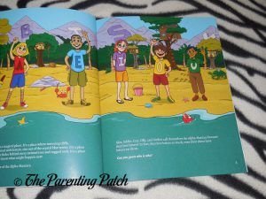 Inside Pages of 'Alpha-Mania Adventures: Captain Ray and the Rhyming Pirates' 1