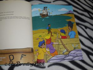 Inside Pages of 'Alpha-Mania Adventures: Captain Ray and the Rhyming Pirates' 2