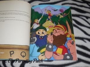 Inside Pages of 'Alpha-Mania Adventures: Captain Ray and the Rhyming Pirates' 3