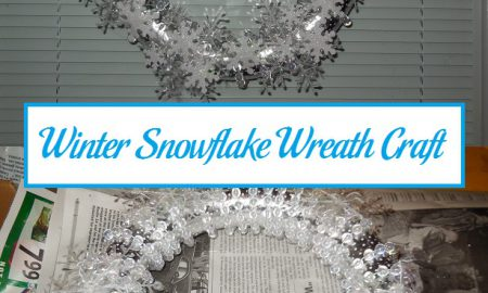 Winter Snowflake Wreath Craft