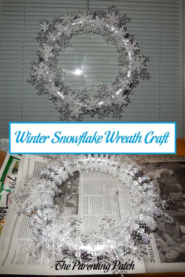 Winter Snowflake Wreath Craft