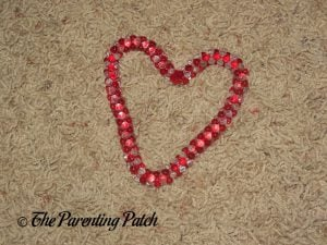 Tri-bead Heart for the Duct Tape Valentine's Day Wreath Craft