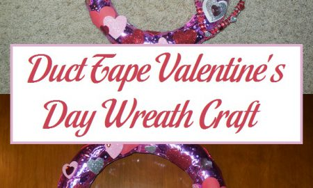 Duct Tape Valentine's Day Wreath Craft